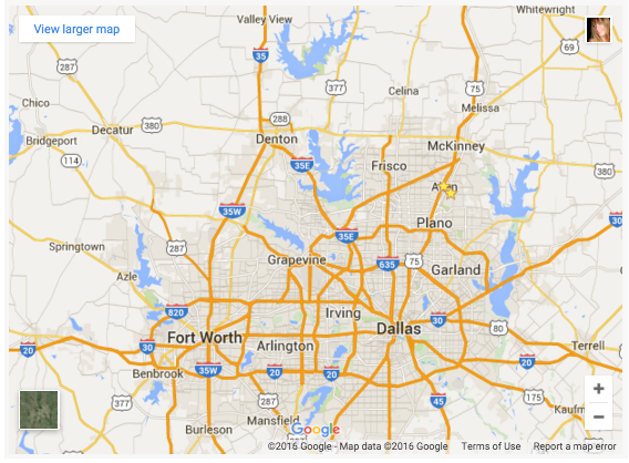 map of DFW